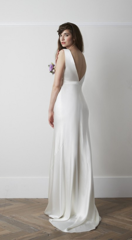 Back of Haliton Wedding Dress - Charlie Brear 2015 Bridal Collection