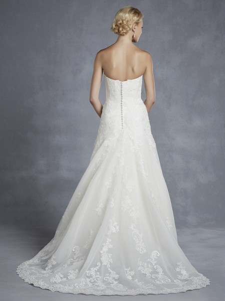 Back of Hamilton Wedding Dress - Blue by Enzoani 2015 Bridal Collection