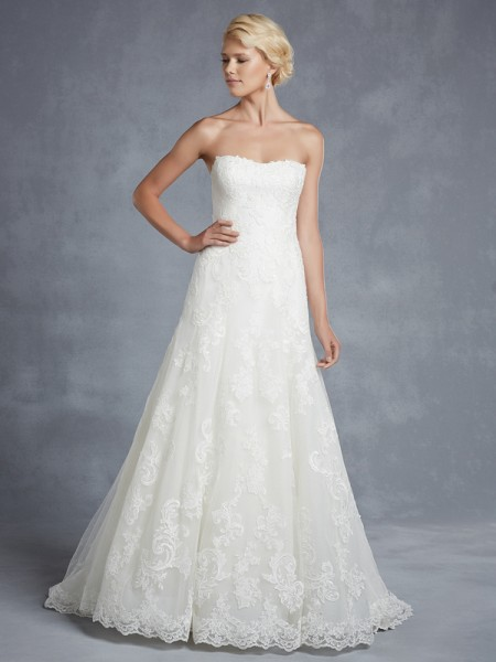 Hamilton Wedding Dress - Blue by Enzoani 2015 Bridal Collection