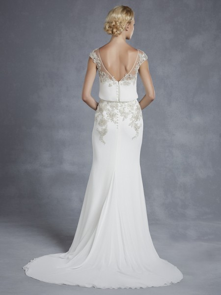Back of Harlem Wedding Dress - Blue by Enzoani 2015 Bridal Collection