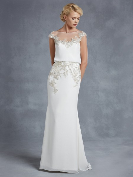 Harlem Wedding Dress - Blue by Enzoani 2015 Bridal Collection