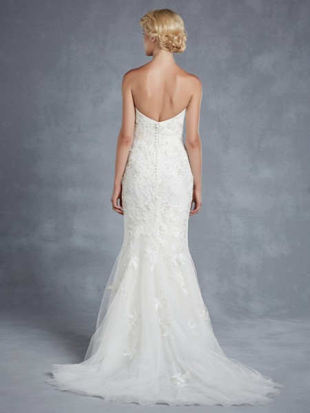 Back of Harper Wedding Dress - Blue by Enzoani 2015 Bridal Collection