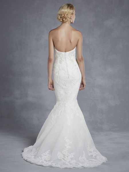 Back of Harrogate Wedding Dress - Blue by Enzoani 2015 Bridal Collection