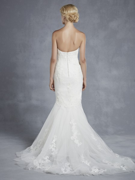 Back of Hartfort Wedding Dress - Blue by Enzoani 2015 Bridal Collection