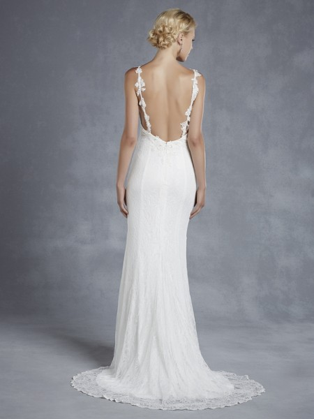 Back of Hartwell Wedding Dress - Blue by Enzoani 2015 Bridal Collection