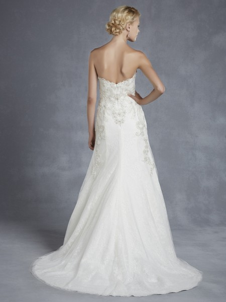 Back of Hawthorne Wedding Dress - Blue by Enzoani 2015 Bridal Collection