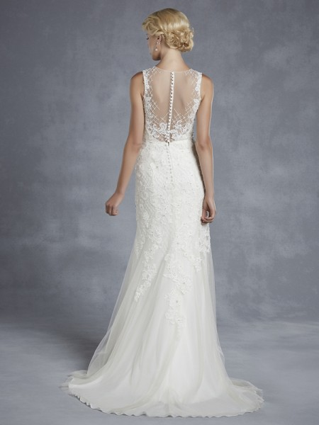 Back of Hazelwood Wedding Dress - Blue by Enzoani 2015 Bridal Collection