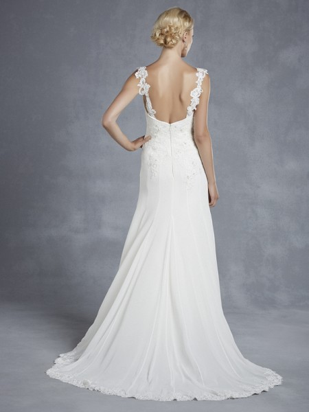 Back of Henderson Wedding Dress - Blue by Enzoani 2015 Bridal Collection