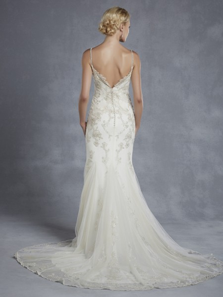 Back of Henley Wedding Dress - Blue by Enzoani 2015 Bridal Collection