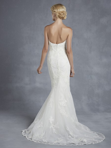 Back of Hidalgo Wedding Dress - Blue by Enzoani 2015 Bridal Collection