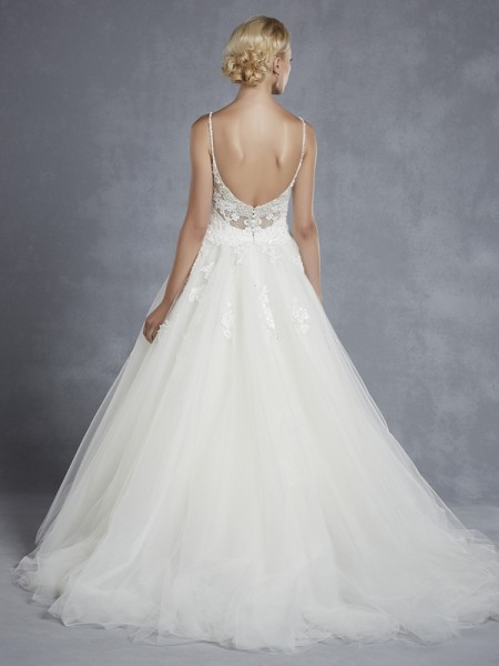 Back of Highland Wedding Dress - Blue by Enzoani 2015 Bridal Collection