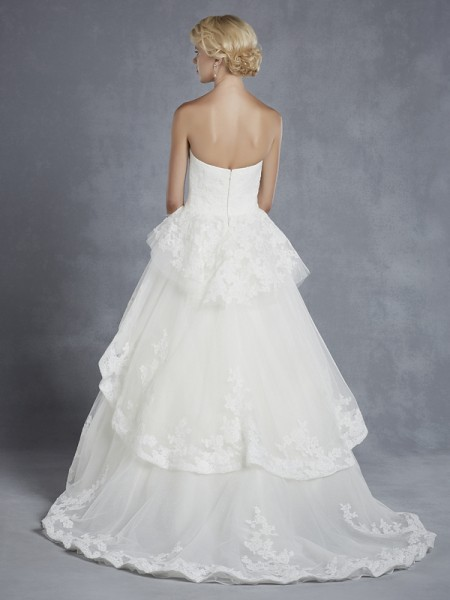 Back of Hollister Wedding Dress - Blue by Enzoani 2015 Bridal Collection