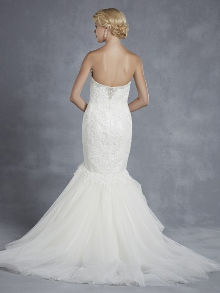 Back of Hollybrook Wedding Dress - Blue by Enzoani 2015 Bridal Collection