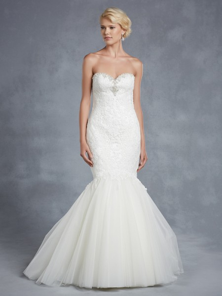 Hollybrook Wedding Dress - Blue by Enzoani 2015 Bridal Collection