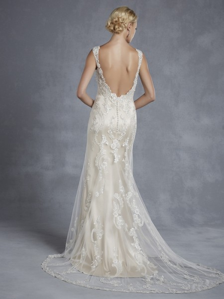 Back of Hollywood Wedding Dress - Blue by Enzoani 2015 Bridal Collection
