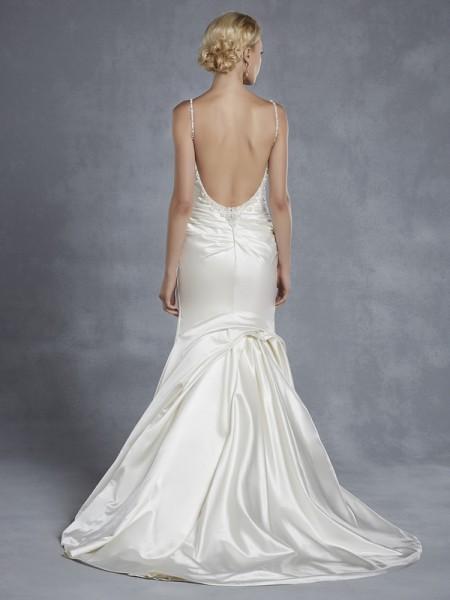 Back of Honeyford Wedding Dress - Blue by Enzoani 2015 Bridal Collection