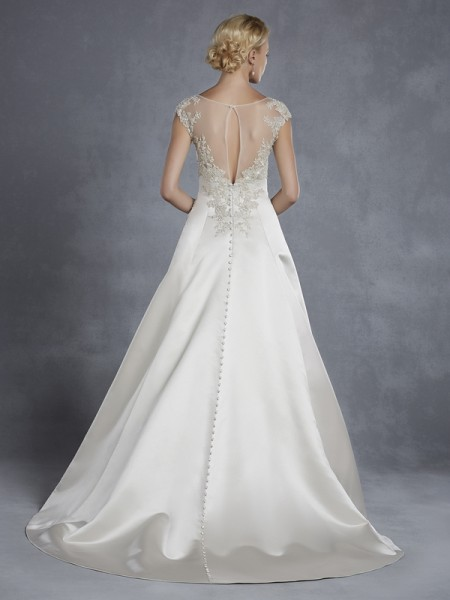 Back of Honeyville Wedding Dress - Blue by Enzoani 2015 Bridal Collection