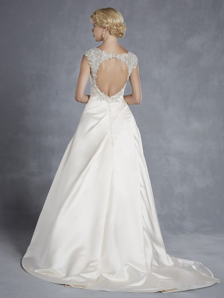 Back of Hong Kong Wedding Dress - Blue by Enzoani 2015 Bridal Collection