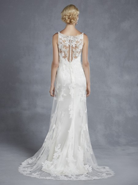 Back of Hope Wedding Dress - Blue by Enzoani 2015 Bridal Collection