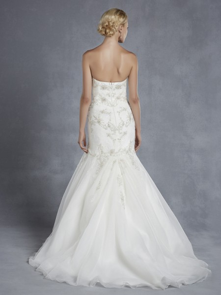 Back of Houston Wedding Dress - Blue by Enzoani 2015 Bridal Collection