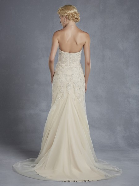 Back of Hudson Wedding Dress - Blue by Enzoani 2015 Bridal Collection