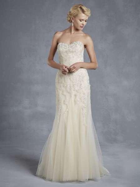 Hudson Wedding Dress - Blue by Enzoani 2015 Bridal Collection
