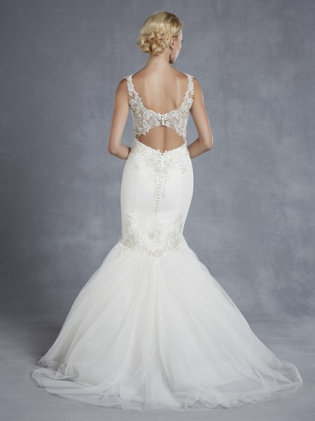 Back of Huntington Wedding Dress - Blue by Enzoani 2015 Bridal Collection