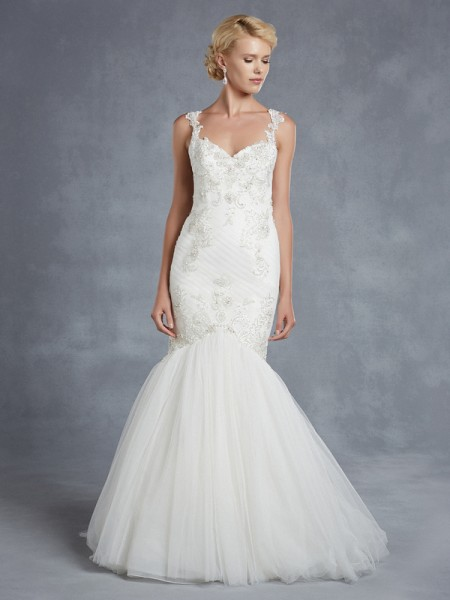 Huntington Wedding Dress - Blue by Enzoani 2015 Bridal Collection