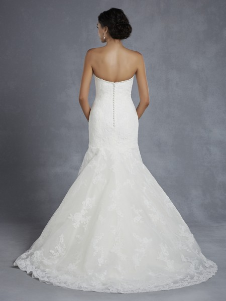 Back of Huntsville Wedding Dress - Blue by Enzoani 2015 Bridal Collection