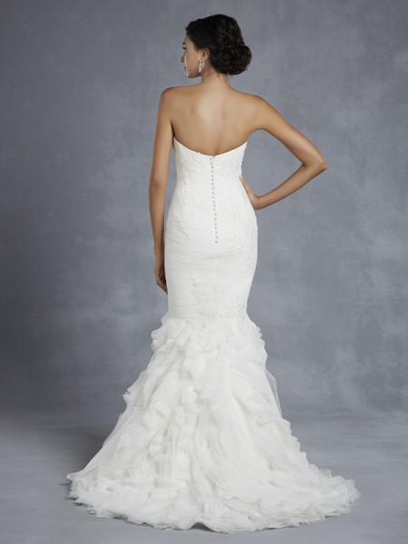 Back of Hurlingham Wedding Dress - Blue by Enzoani 2015 Bridal Collection