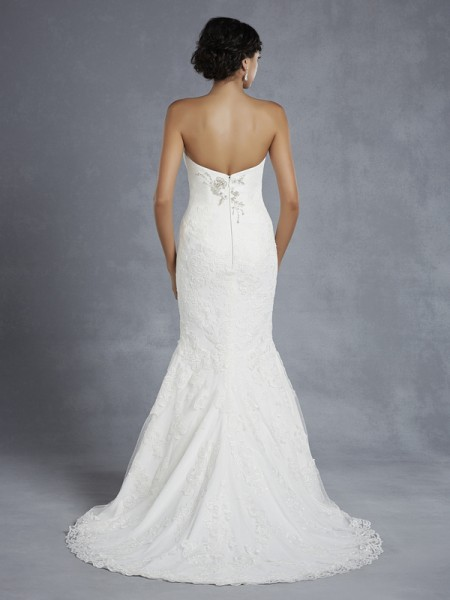 Back of Hyde Wedding Dress - Blue by Enzoani 2015 Bridal Collection