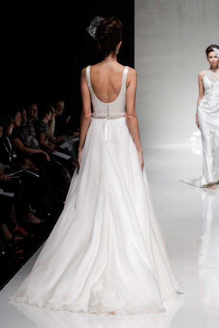 Back of Isadora Wedding Dress - Alan Hannah Floral Symphony 2015 Bridal Collection