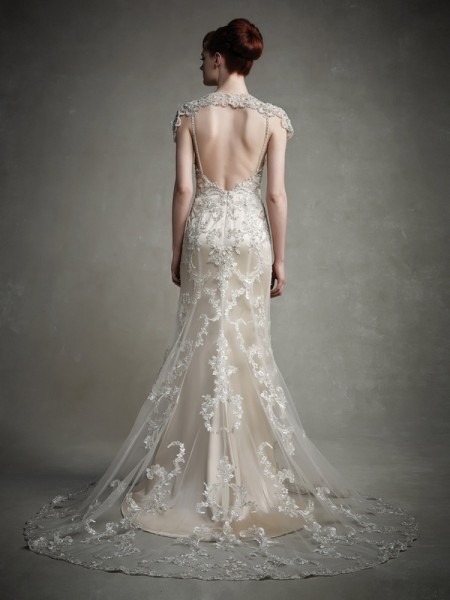Back of Jaime Wedding Dress - Enzoani 2015 Bridal Collection