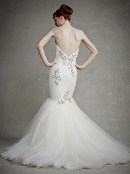Back of Janelle Wedding Dress - Enzoani 2015 Bridal Collection