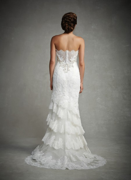 Back of Jessica Wedding Dress - Enzoani 2015 Bridal Collection