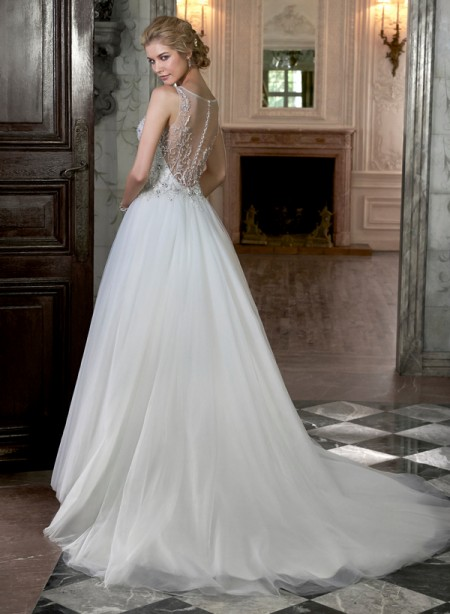 Back of Joan Wedding Dress - Maggie Sottero Spring 2015 Bridal Collection