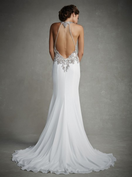 Back of Joanna Wedding Dress - Enzoani 2015 Bridal Collection
