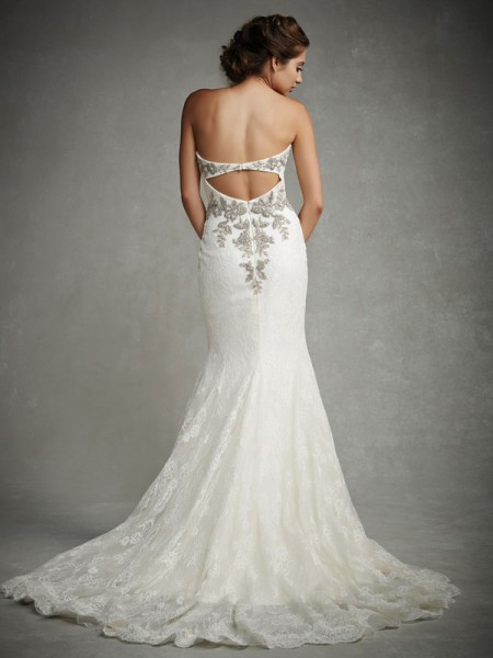 Back of Jocelyn Wedding Dress - Enzoani 2015 Bridal Collection