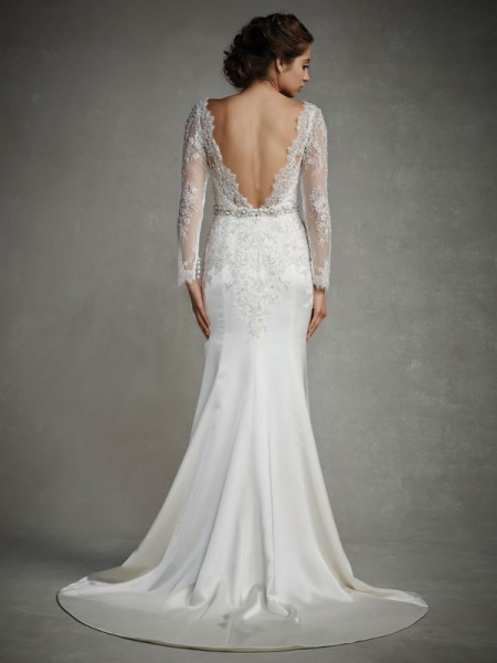 Back of Jordan Wedding Dress - Enzoani 2015 Bridal Collection