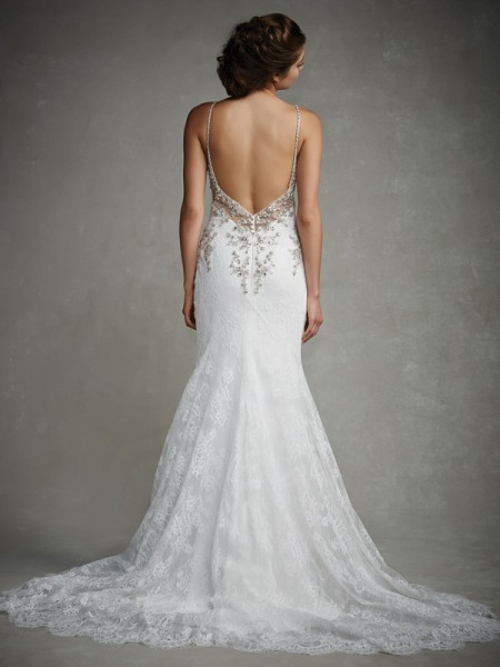 Back of Joyce Wedding Dress - Enzoani 2015 Bridal Collection