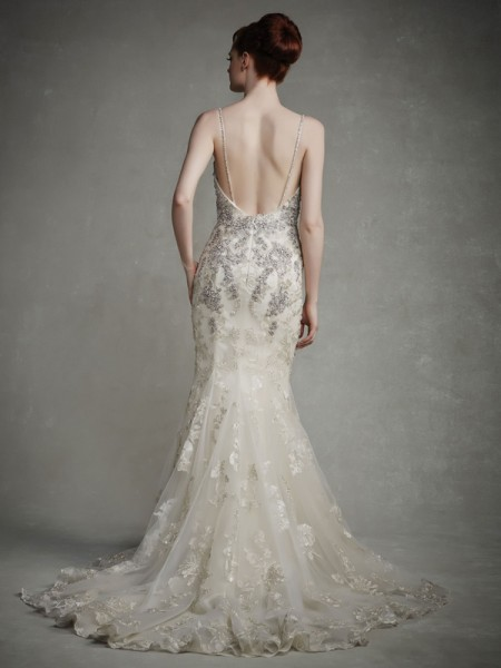 Back of Judy Wedding Dress - Enzoani 2015 Bridal Collection