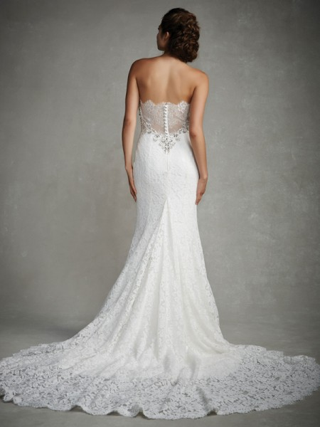 Back of Juliana Wedding Dress - Enzoani 2015 Bridal Collection