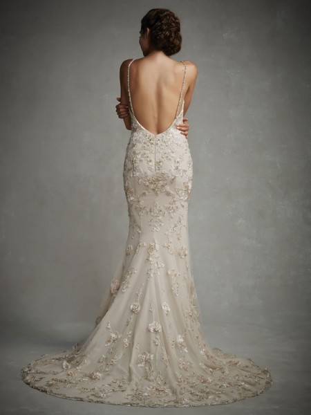Back of July Wedding Dress - Enzoani 2015 Bridal Collection