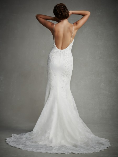 Back of June Wedding Dress - Enzoani 2015 Bridal Collection