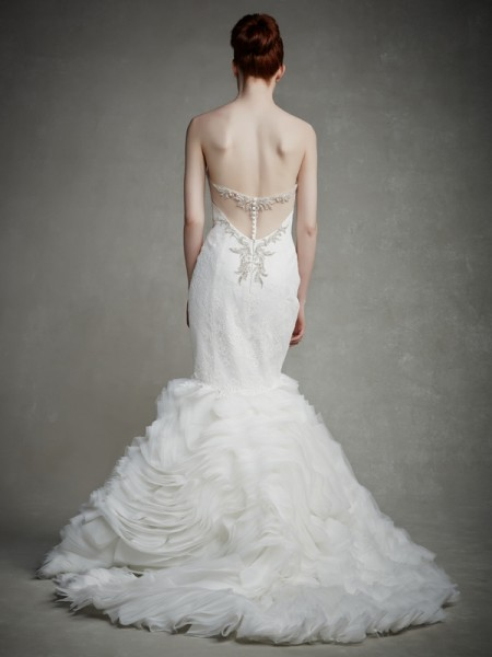 Back of Justina Wedding Dress - Enzoani 2015 Bridal Collection