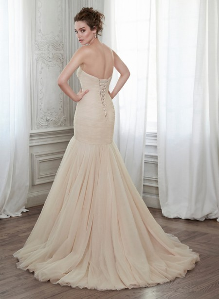 Back of Lacey Wedding Dress - Maggie Sottero Spring 2015 Bridal Collection