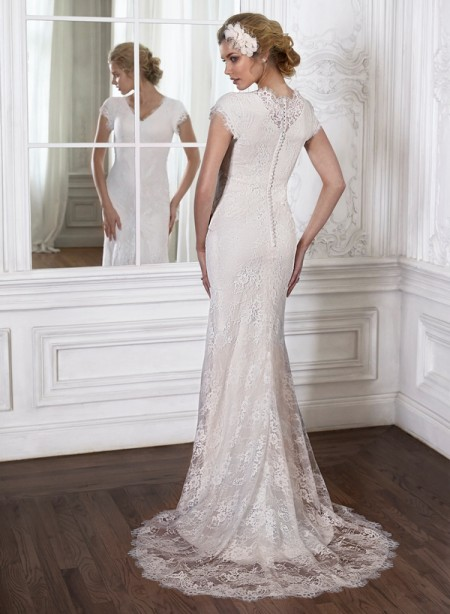 Back of Leilani Wedding Dress - Maggie Sottero Spring 2015 Bridal Collection