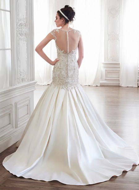 Back of Lenya Wedding Dress - Maggie Sottero Spring 2015 Bridal Collection