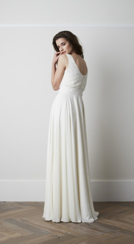 Back of Marielle Wedding Dress - Charlie Brear 2015 Bridal Collection