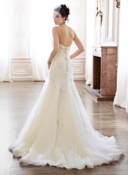 Back of Maylene Wedding Dress - Maggie Sottero Spring 2015 Bridal Collection
